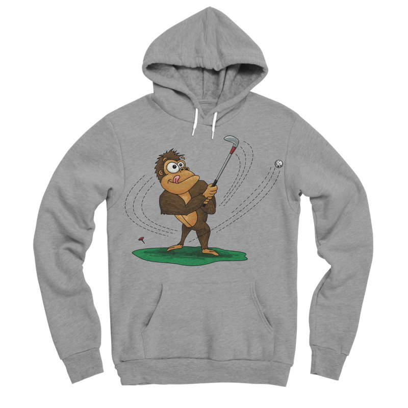 Gorilla Golfer Men's Sponge Fleece Pullover Hoody by Hadeda Creative's Artist Shop