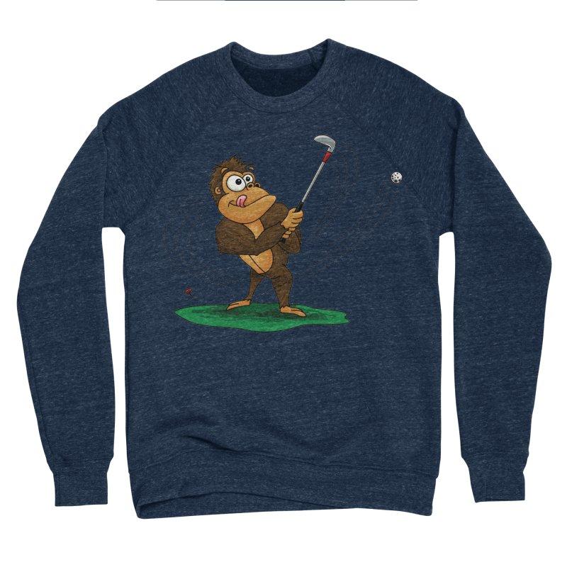 Gorilla Golfer Men's Sponge Fleece Sweatshirt by Hadeda Creative's Artist Shop