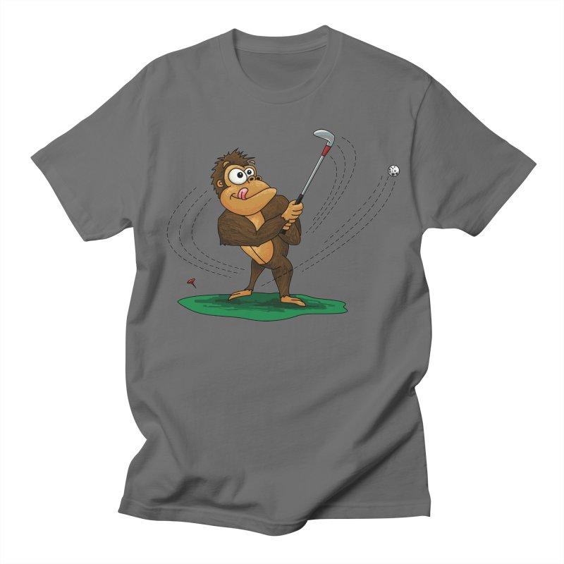 Gorilla Golfer Men's T-Shirt by Hadeda Creative's Artist Shop