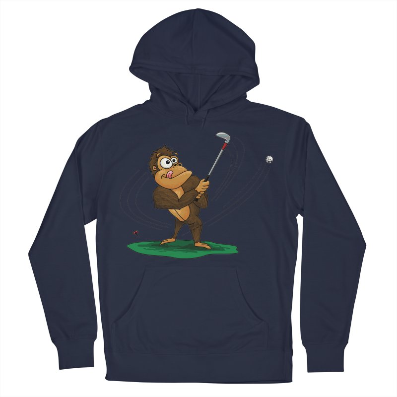 Gorilla Golfer Men's French Terry Pullover Hoody by Hadeda Creative's Artist Shop