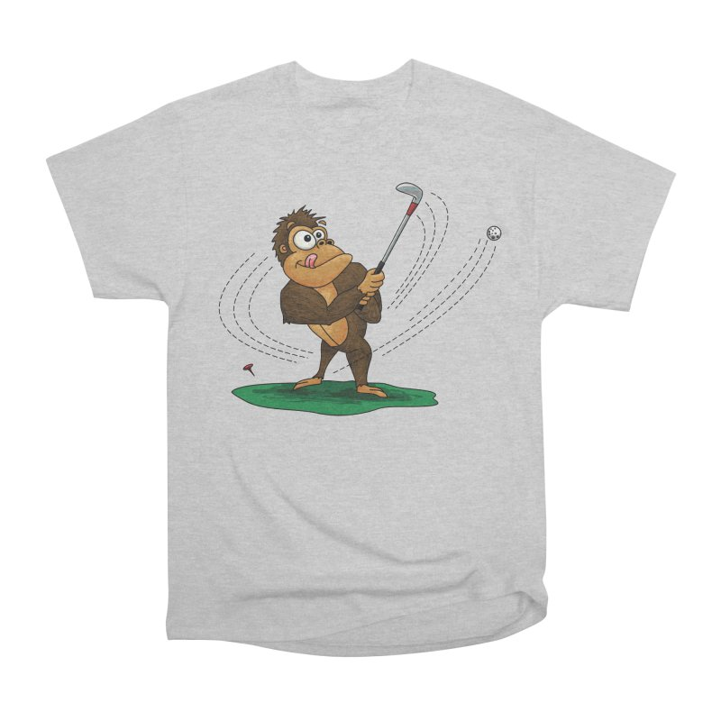 Gorilla Golfer Men's Heavyweight T-Shirt by Hadeda Creative's Artist Shop