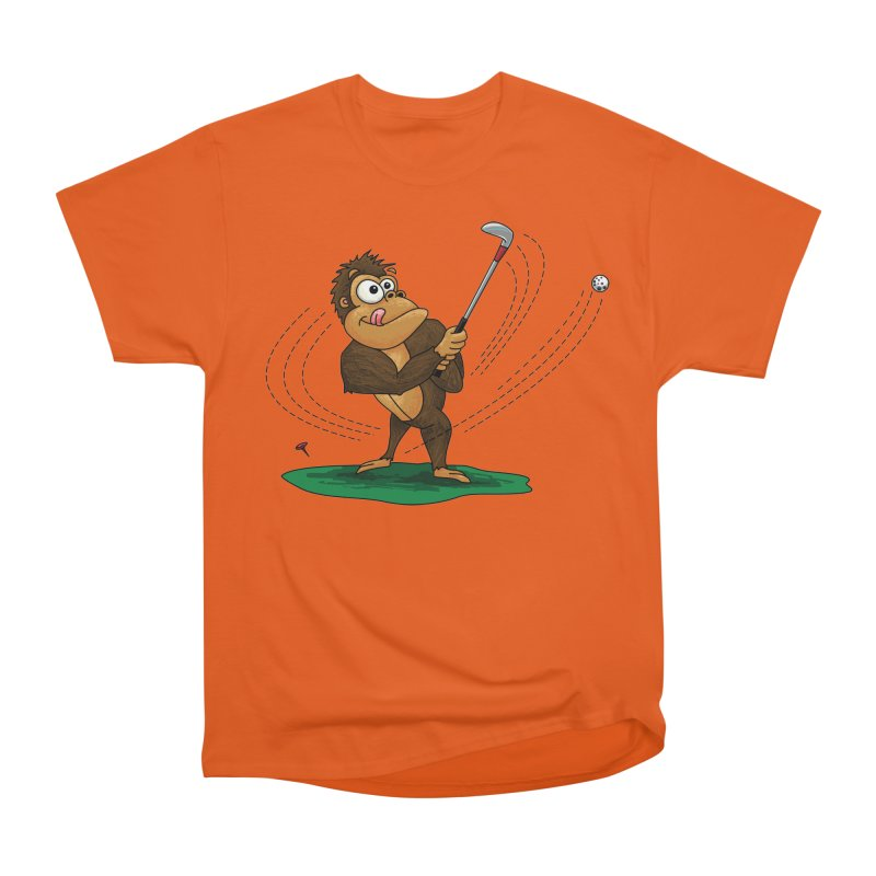 Gorilla Golfer Women's Heavyweight Unisex T-Shirt by Hadeda Creative's Artist Shop