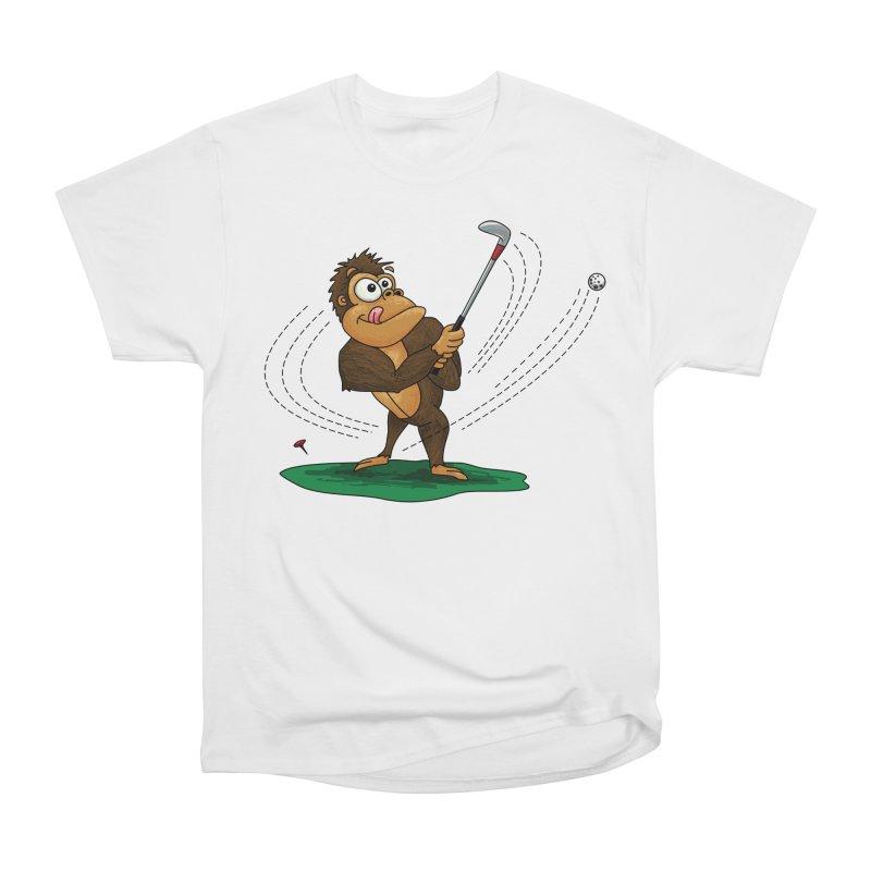 Gorilla Golfer Women's Heavyweight Unisex T-Shirt by Hadeda Creative's Artist Shop