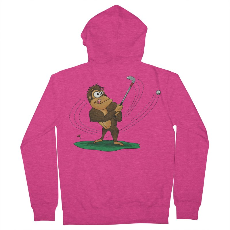 Gorilla Golfer Women's French Terry Zip-Up Hoody by Hadeda Creative's Artist Shop