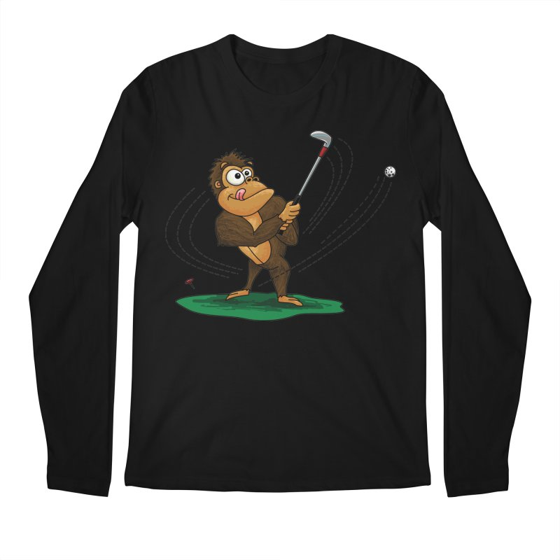 Gorilla Golfer Men's Regular Longsleeve T-Shirt by Hadeda Creative's Artist Shop