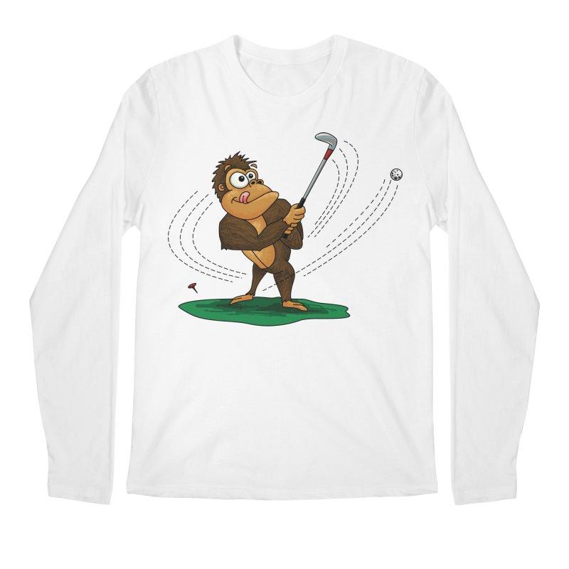 Gorilla Golfer Men's Regular Longsleeve T-Shirt by Hadeda Creative's Artist Shop