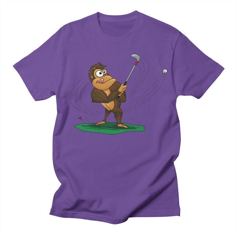 Gorilla Golfer Women's Regular Unisex T-Shirt by Hadeda Creative's Artist Shop
