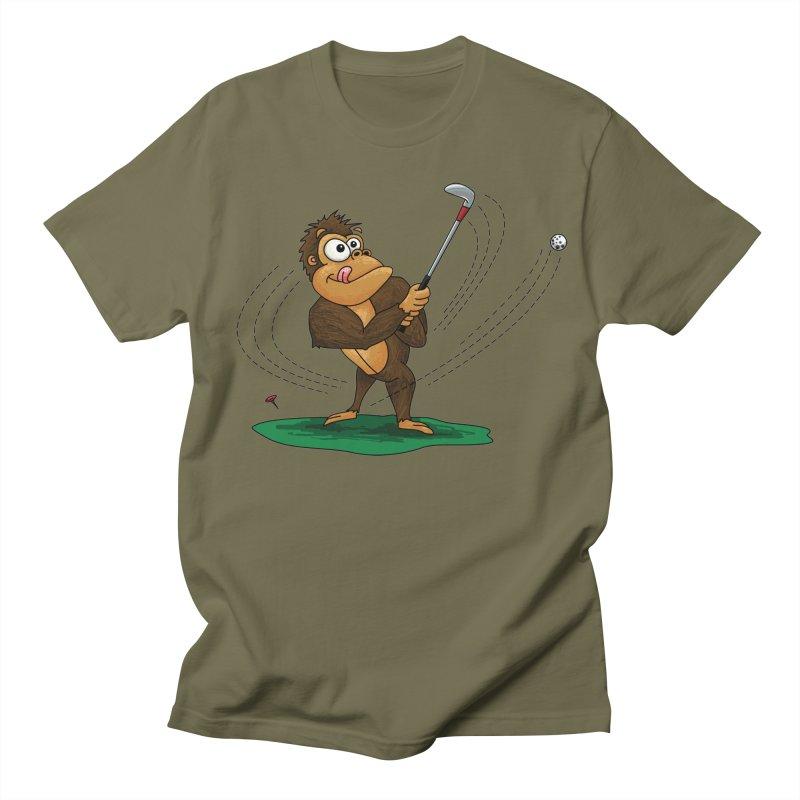 Gorilla Golfer Men's Regular T-Shirt by Hadeda Creative's Artist Shop