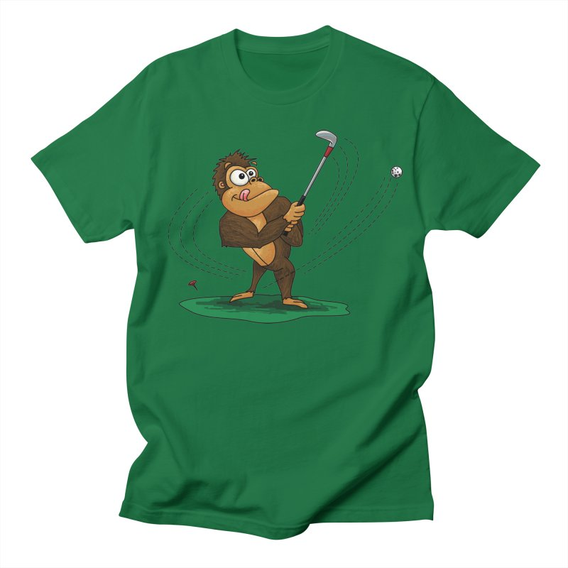Gorilla Golfer Men's Regular T-Shirt by Hadeda Creative's Artist Shop