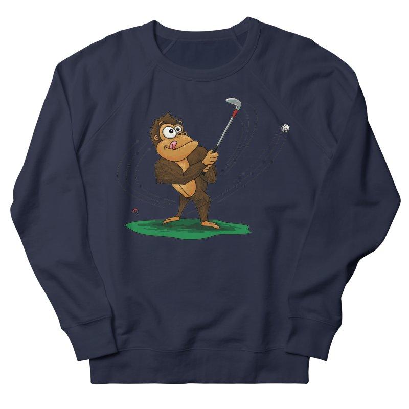 Gorilla Golfer Men's French Terry Sweatshirt by Hadeda Creative's Artist Shop