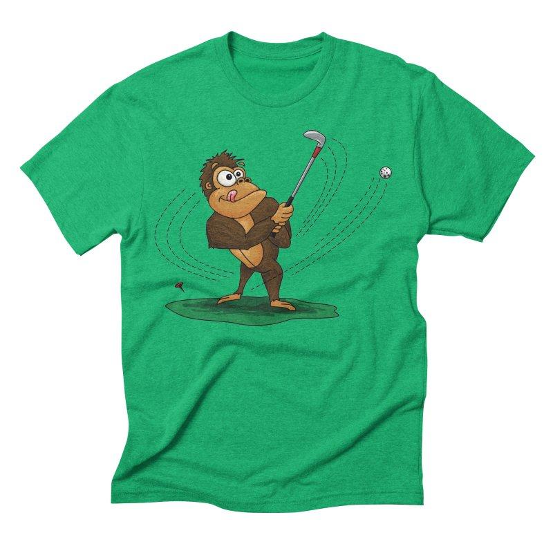 Gorilla Golfer Men's Triblend T-Shirt by Hadeda Creative's Artist Shop