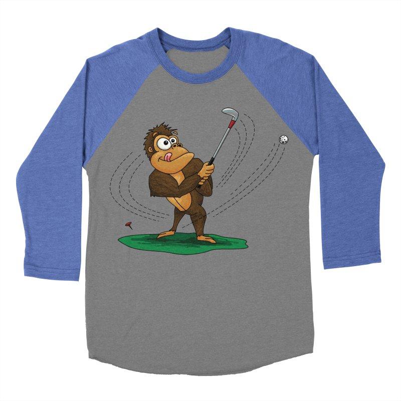Gorilla Golfer Women's Baseball Triblend Longsleeve T-Shirt by Hadeda Creative's Artist Shop