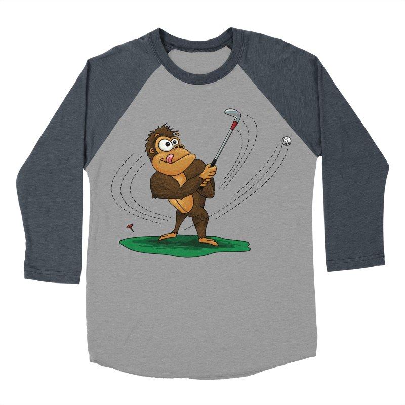 Gorilla Golfer Men's Baseball Triblend Longsleeve T-Shirt by Hadeda Creative's Artist Shop