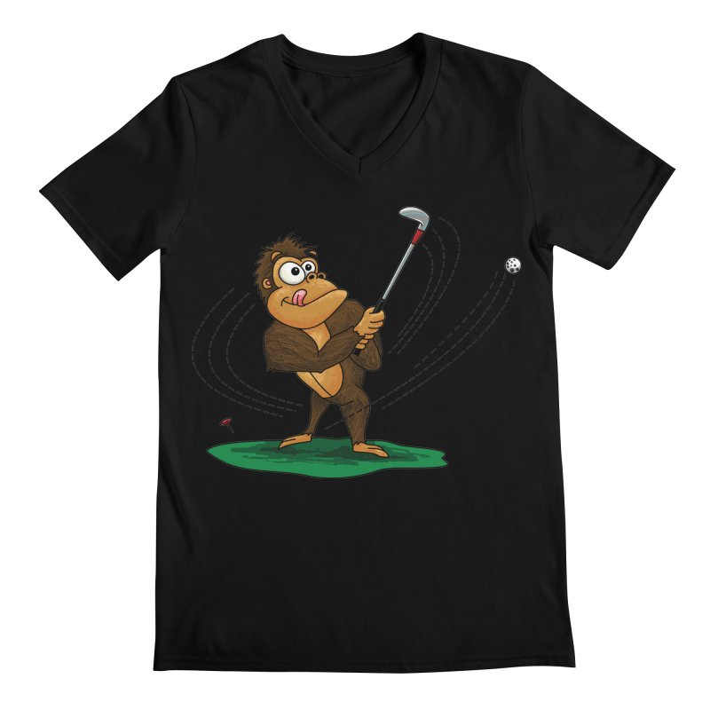 Gorilla Golfer Men's Regular V-Neck by Hadeda Creative's Artist Shop