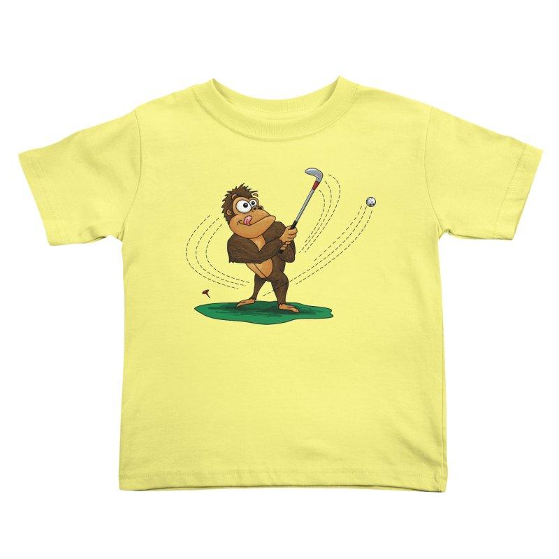 Gorilla Golfer Kids Toddler T-Shirt by Hadeda Creative's Artist Shop