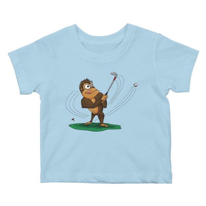 Gorilla Golfer Kids Baby T-Shirt by Hadeda Creative's Artist Shop
