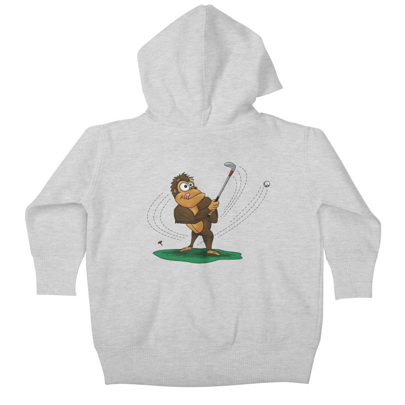 Gorilla Golfer Kids Baby Zip-Up Hoody by Hadeda Creative's Artist Shop