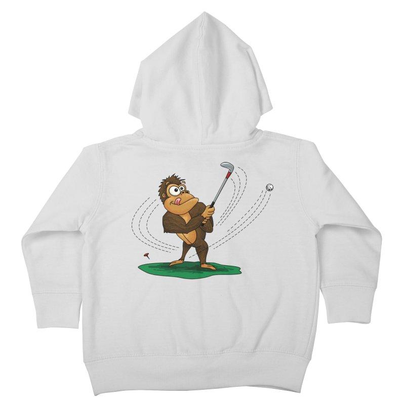 Gorilla Golfer Kids Toddler Zip-Up Hoody by Hadeda Creative's Artist Shop