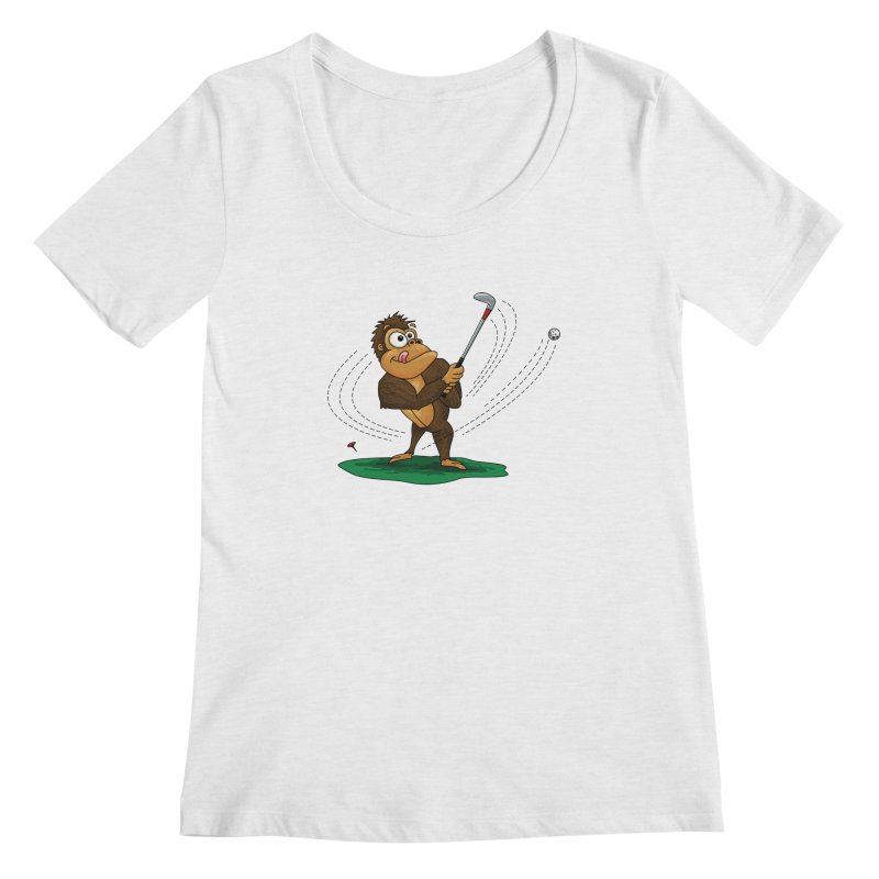 Gorilla Golfer Women's Regular Scoop Neck by Hadeda Creative's Artist Shop