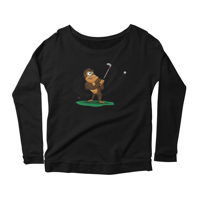 Gorilla Golfer Women's Scoop Neck Longsleeve T-Shirt by Hadeda Creative's Artist Shop