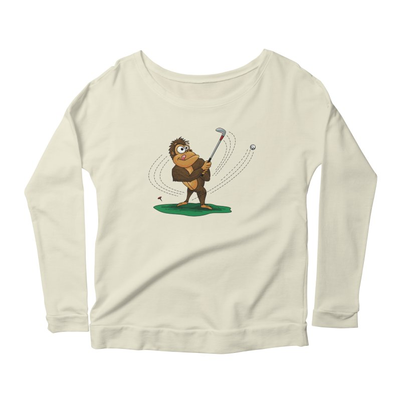 Gorilla Golfer Women's Scoop Neck Longsleeve T-Shirt by Hadeda Creative's Artist Shop
