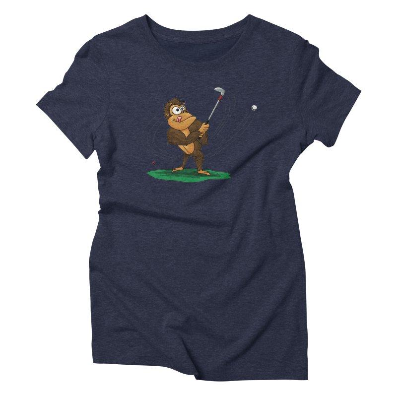 Gorilla Golfer Women's Triblend T-Shirt by Hadeda Creative's Artist Shop