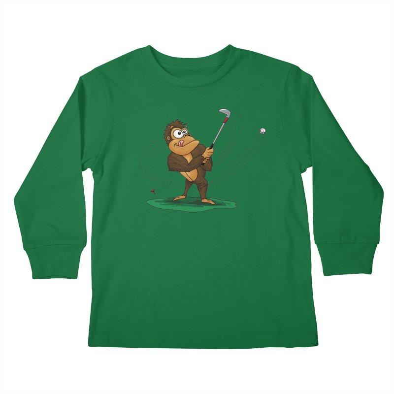 Gorilla Golfer Kids Longsleeve T-Shirt by Hadeda Creative's Artist Shop