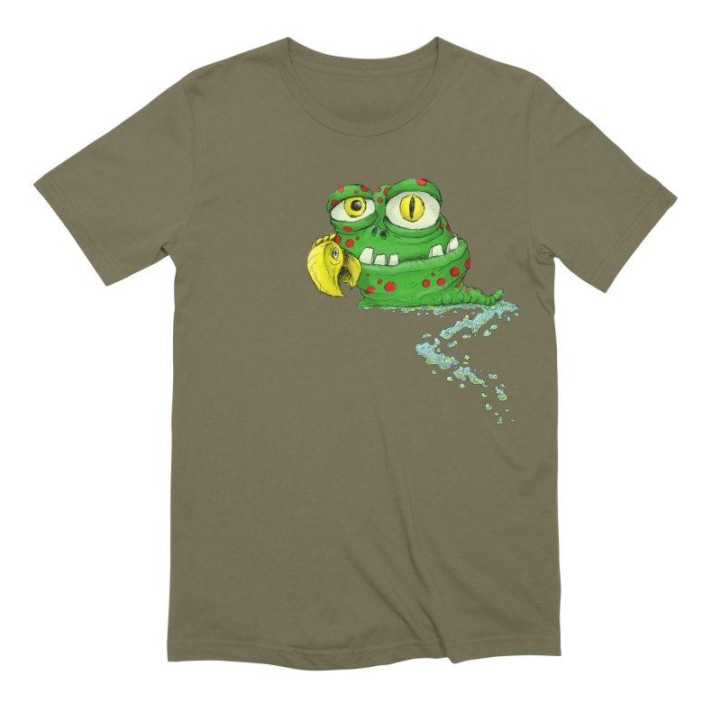 (Slimey) Steve Men's Extra Soft T-Shirt by Hadeda Creative's Artist Shop
