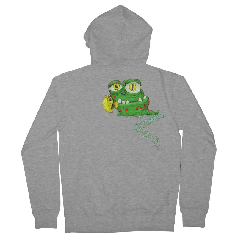 (Slimey) Steve Women's French Terry Zip-Up Hoody by Hadeda Creative's Artist Shop