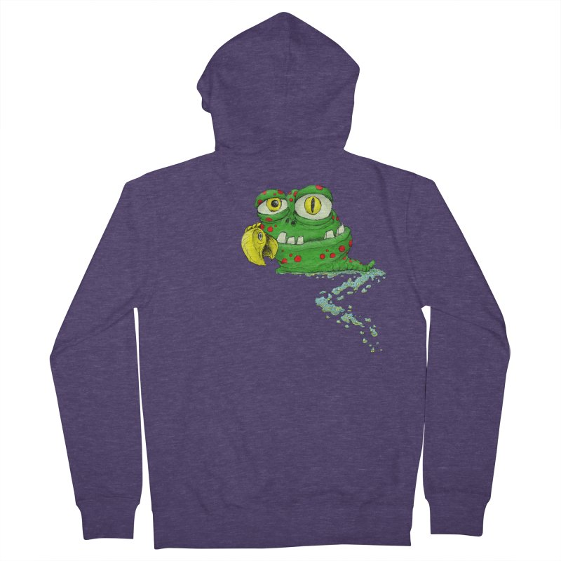 (Slimey) Steve Men's French Terry Zip-Up Hoody by Hadeda Creative's Artist Shop