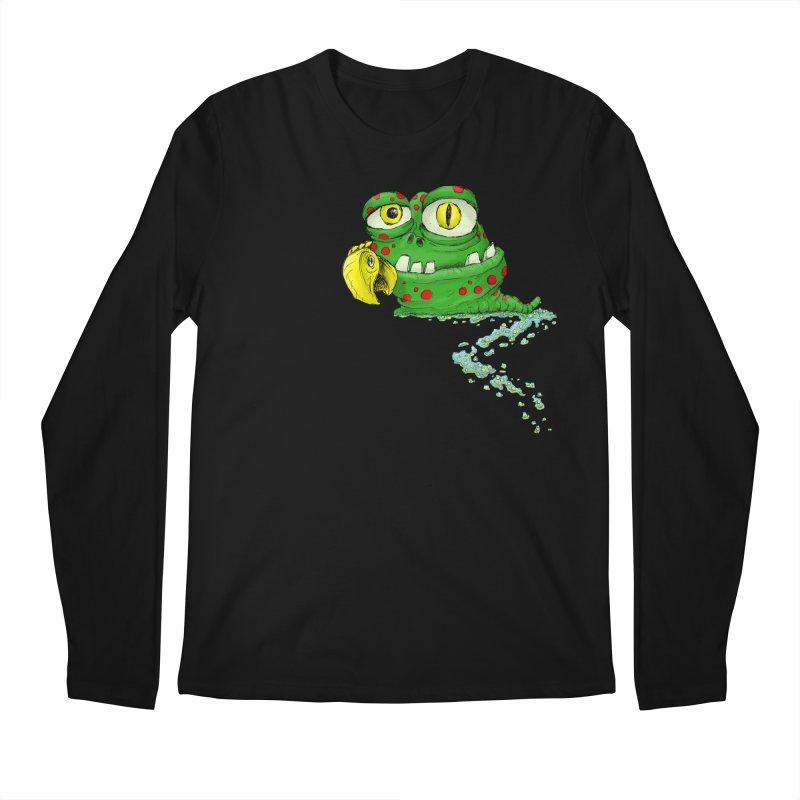 (Slimey) Steve Men's Regular Longsleeve T-Shirt by Hadeda Creative's Artist Shop