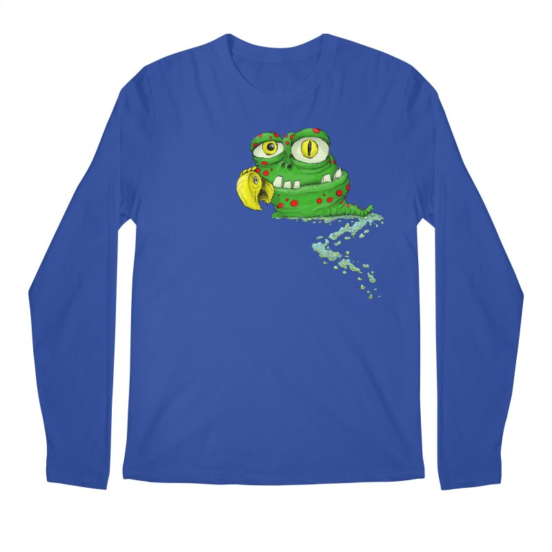 (Slimey) Steve Men's Longsleeve T-Shirt by Hadeda Creative's Artist Shop