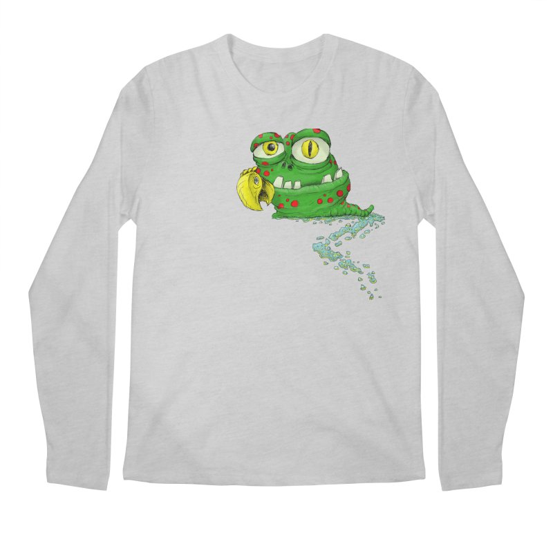 (Slimey) Steve Men's Regular Longsleeve T-Shirt by Hadeda Creative's Artist Shop