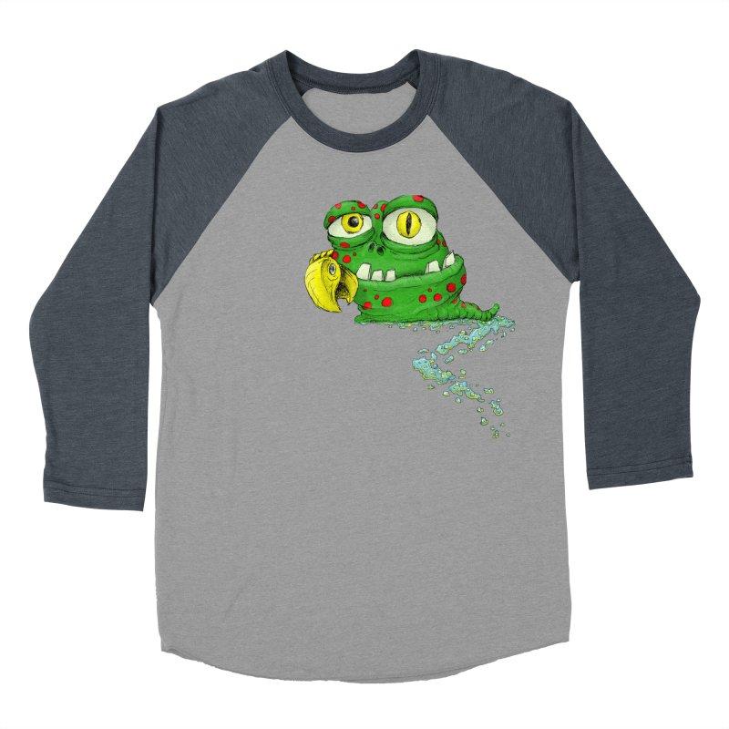 (Slimey) Steve Women's Baseball Triblend Longsleeve T-Shirt by Hadeda Creative's Artist Shop