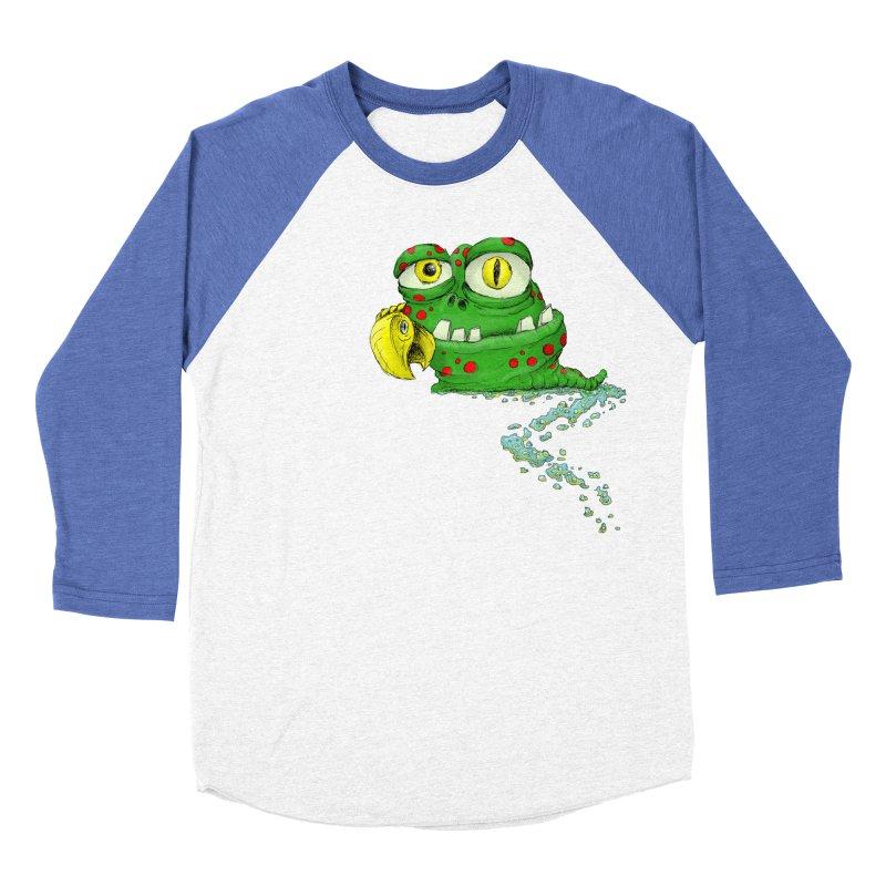 (Slimey) Steve Men's Baseball Triblend Longsleeve T-Shirt by Hadeda Creative's Artist Shop