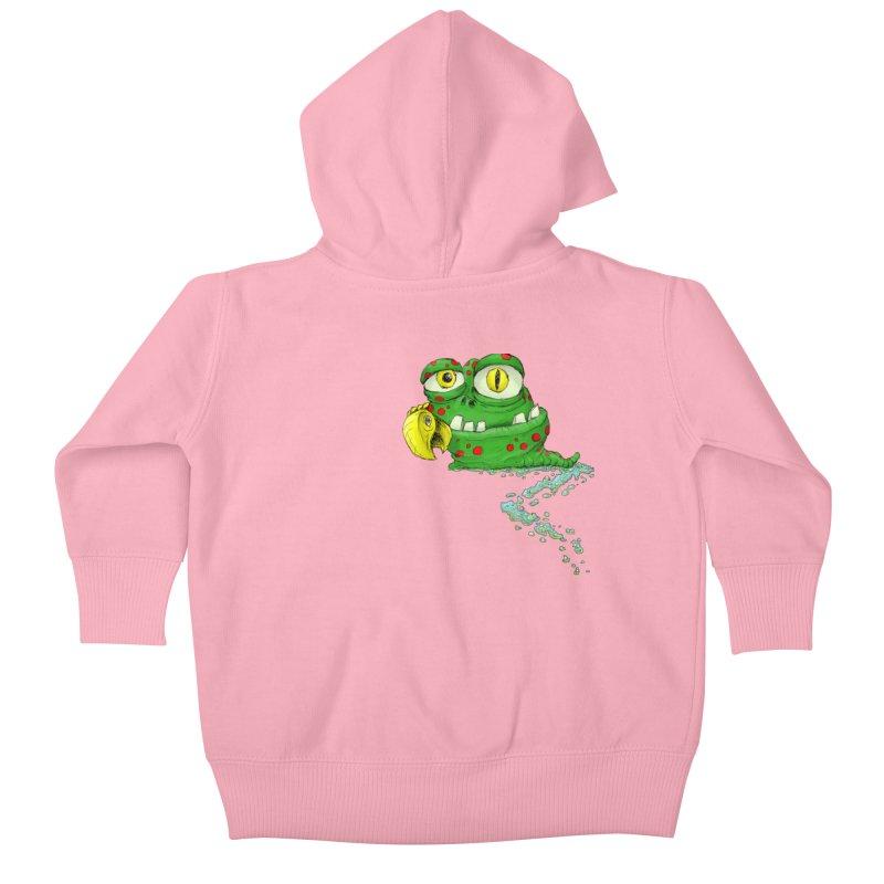 (Slimey) Steve Kids Baby Zip-Up Hoody by Hadeda Creative's Artist Shop