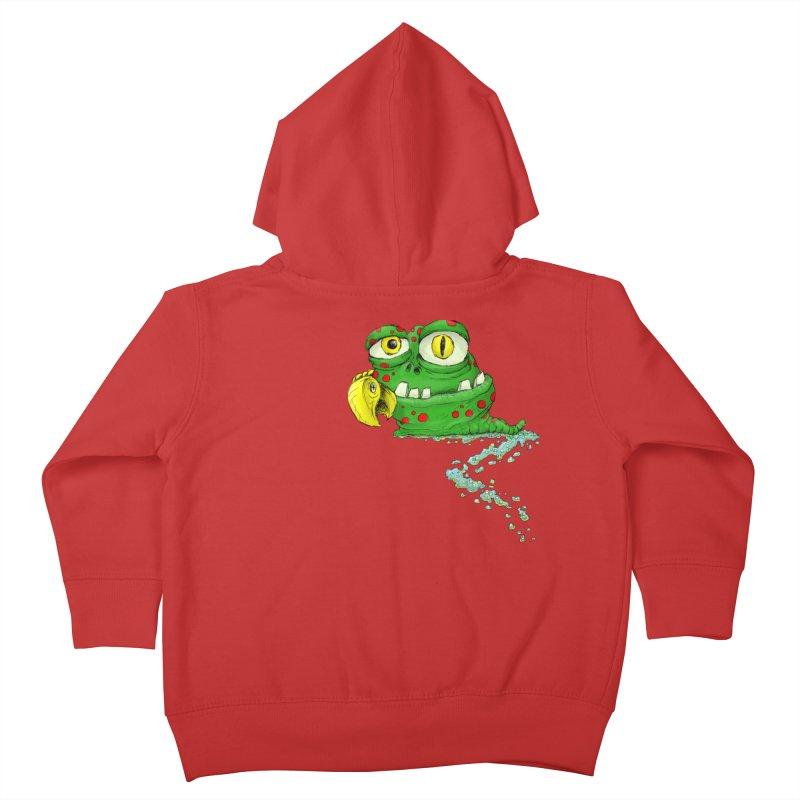 (Slimey) Steve Kids Toddler Zip-Up Hoody by Hadeda Creative's Artist Shop