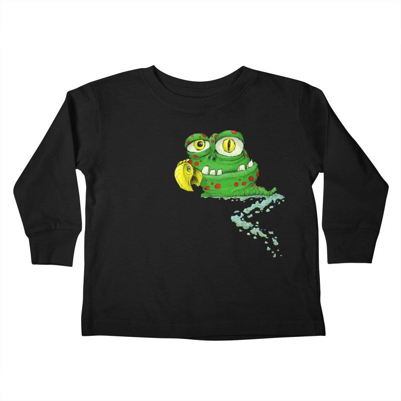 (Slimey) Steve Kids Toddler Longsleeve T-Shirt by Hadeda Creative's Artist Shop