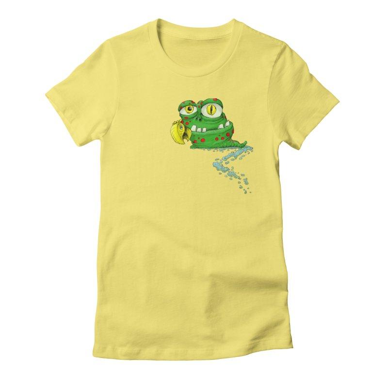 (Slimey) Steve Women's Fitted T-Shirt by Hadeda Creative's Artist Shop
