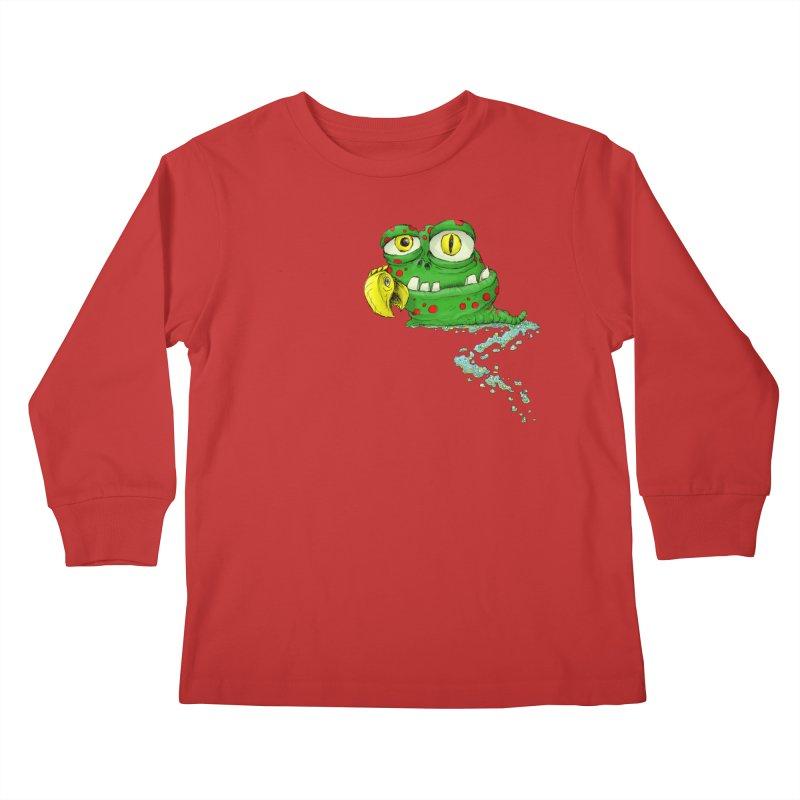 (Slimey) Steve Kids Longsleeve T-Shirt by Hadeda Creative's Artist Shop