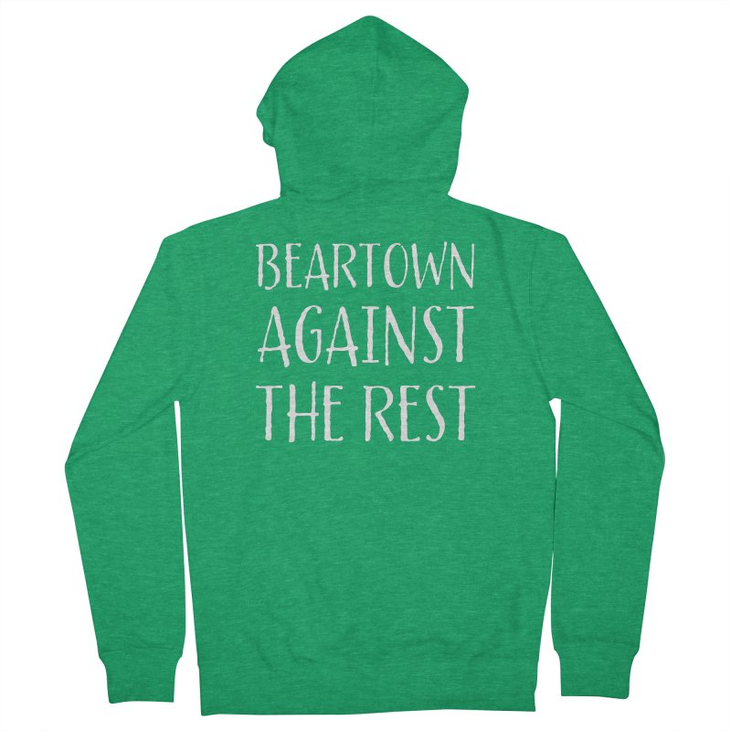 Beartown Against The Rest Men's French Terry Zip-Up Hoody by Hadeda Creative's Artist Shop