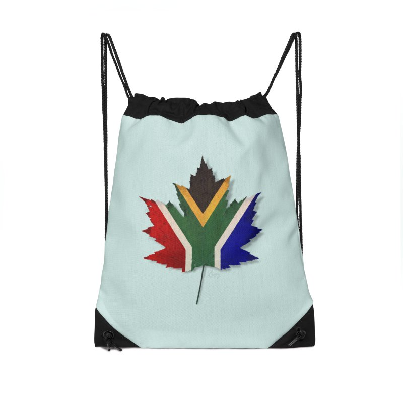 South Africa Maple Accessories Drawstring Bag Bag by Hadeda Creative's Artist Shop