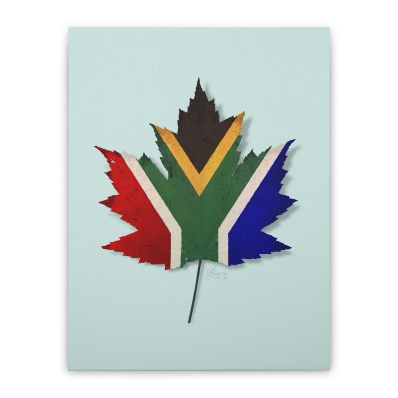 South Africa Maple Home Stretched Canvas by Hadeda Creative's Artist Shop
