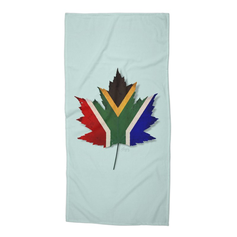 South Africa Maple Accessories Beach Towel by Hadeda Creative's Artist Shop