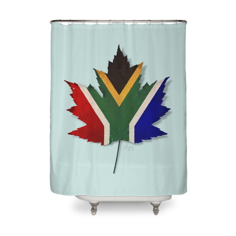 South Africa Maple Home Shower Curtain by Hadeda Creative's Artist Shop