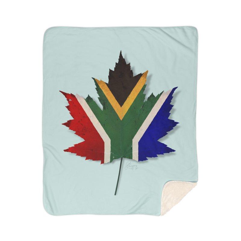 South Africa Maple Home Sherpa Blanket Blanket by Hadeda Creative's Artist Shop