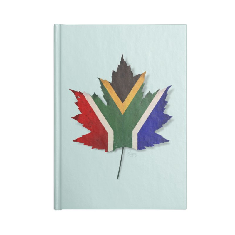 South Africa Maple Accessories Lined Journal Notebook by Hadeda Creative's Artist Shop