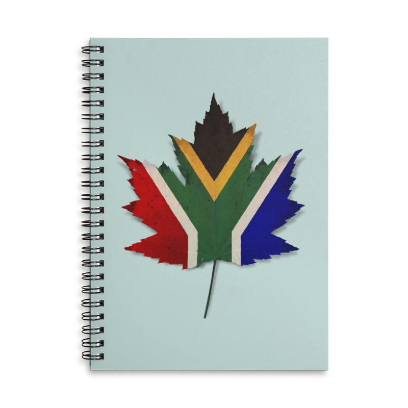 South Africa Maple Accessories Lined Spiral Notebook by Hadeda Creative's Artist Shop