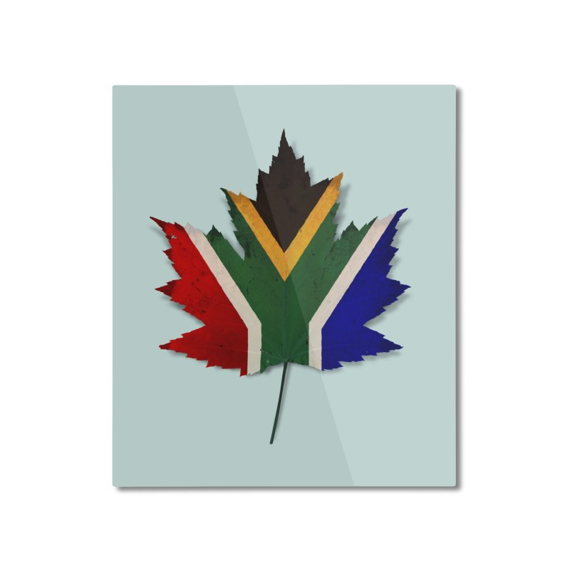South Africa Maple Home Mounted Aluminum Print by Hadeda Creative's Artist Shop