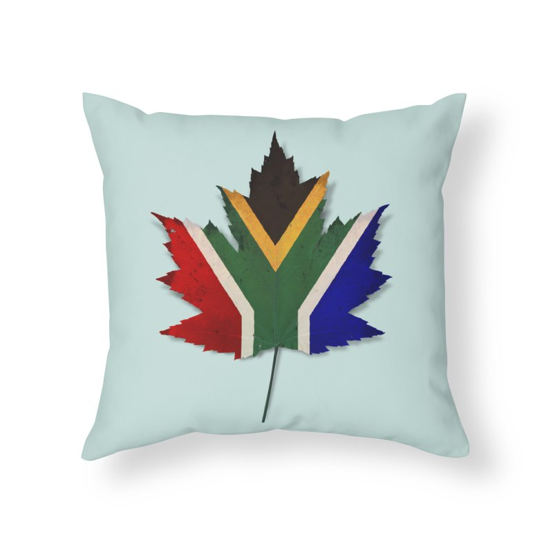 South Africa Maple Home Throw Pillow by Hadeda Creative's Artist Shop
